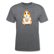 Load image into Gallery viewer, Men's & Unisex Guinea Pig Drinking Boba Classic T-Shirt - mineral charcoal gray