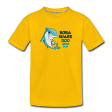 Load image into Gallery viewer, Boba Shark Doo, Doo, Doo Funny Boba Shirt Inspired by Baby Shark  | Toddler Premium T-Shirt - sun yellow
