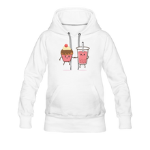 Load image into Gallery viewer, Boba Cupcake Women's Premium Hoodie - white