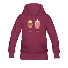 Load image into Gallery viewer, Boba Cupcake Women's Premium Hoodie - burgundy