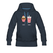 Load image into Gallery viewer, Boba Cupcake Women's Premium Hoodie - navy