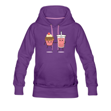 Load image into Gallery viewer, Boba Cupcake Women's Premium Hoodie - purple