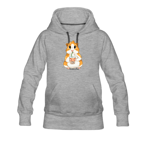 Guinea Pig Boba Women's Premium Hoodie - heather gray
