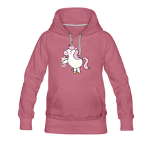 Load image into Gallery viewer, Unicorn Boba Women's Premium Hoodie | Bubble Tea Unicorn Hoodie - mauve