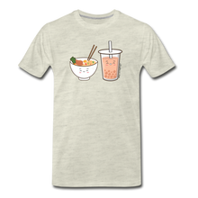 Load image into Gallery viewer, Ramen & Boba Bubble Tea | Men's Premium T-Shirt - heather oatmeal
