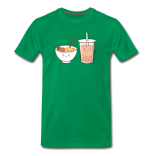 Load image into Gallery viewer, Ramen & Boba Bubble Tea | Men's Premium T-Shirt - kelly green