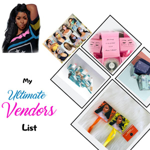 MY ULTIMATE VENDORS LIST  ( INSTANTLEY EMAILED)