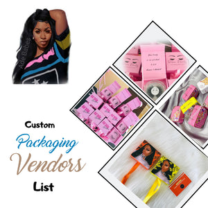 CUSTOM PACKAGING VENDORS LIST (Instantly Emailed)
