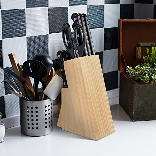 Kitchen Knife and Wood Butcher Block Set - 13 Pieces-MiTBA-kitchenware