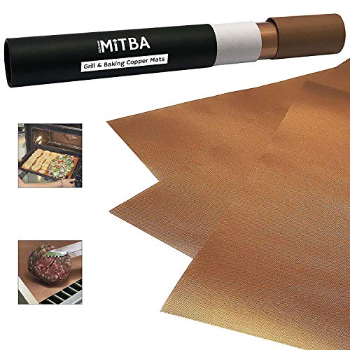 Copper Grill Mats - Set of 3 XL Mats-MiTBA-kitchenware