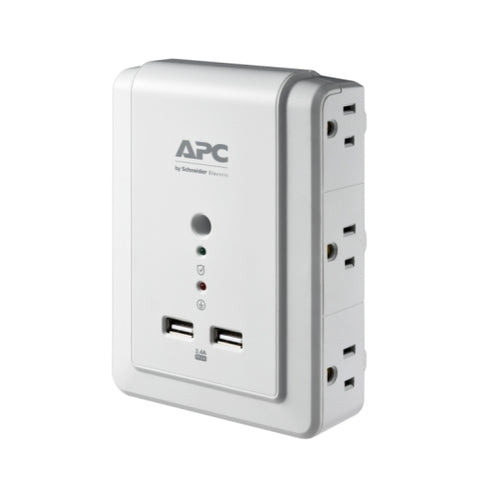 APC Essential SurgeArrest (P6WU2) 6 Outlet Wall Tap With USB