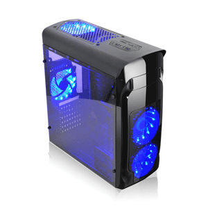Agiler Gamers ATX Blue LED Case