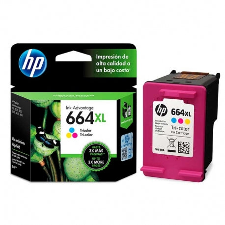 HP 664XL Tricolor Ink Cartridge