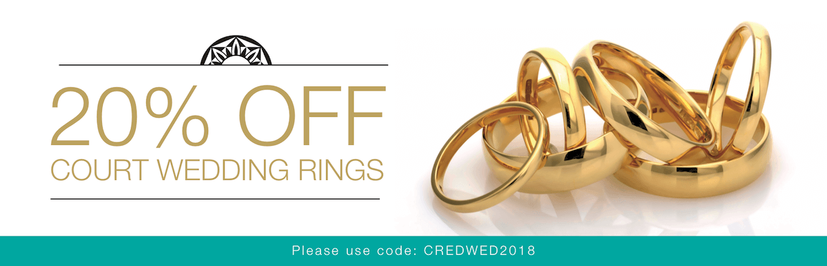 20% OFF all wedding rings