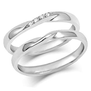 Ribbon Twist Wedding Rings