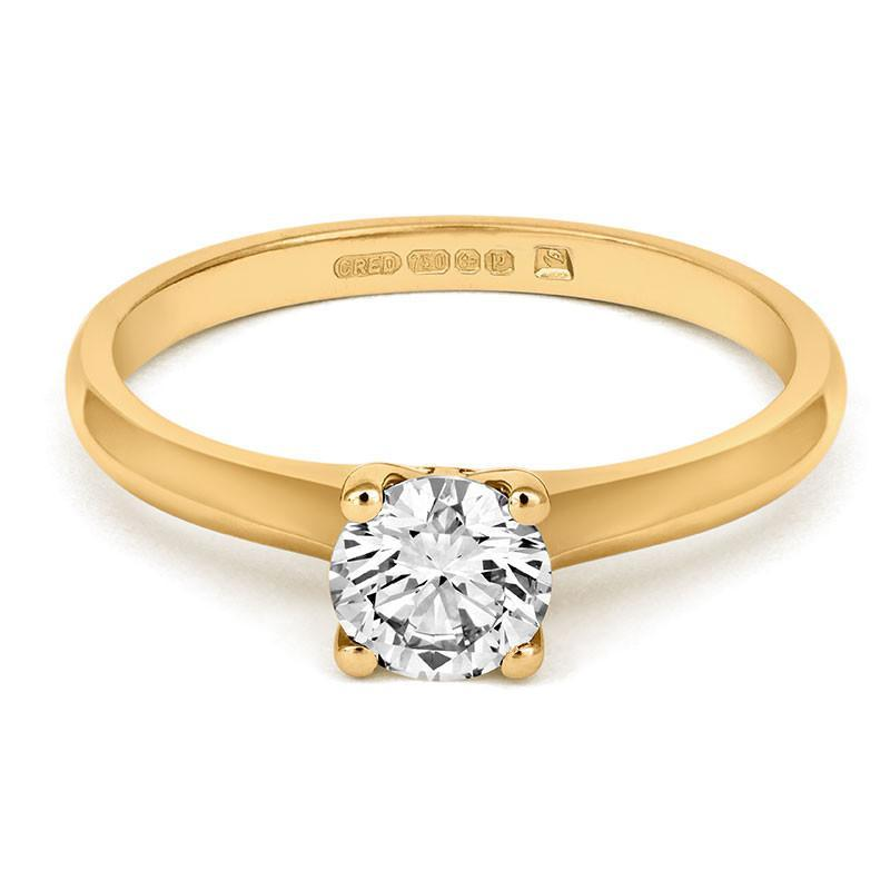 Brilliant Open-Set Solitaire Ring - CRED Jewellery - Fairtrade Jewellery - 5
