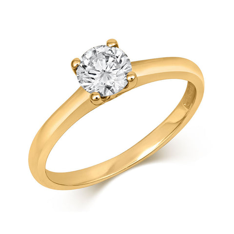 Brilliant Cut Open-Set Ethical Solitaire Diamond Engagement Ring