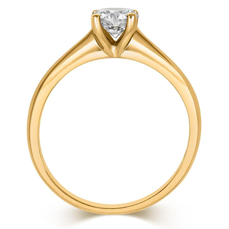 Brilliant Open-Set Solitaire Ring - CRED Jewellery - Fairtrade Jewellery - 6
