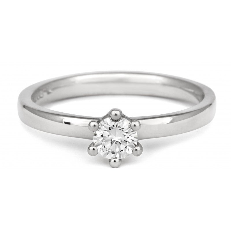 Classic Six Claw Ethical Diamond Solitaire - CRED Jewellery - Fairtrade Jewellery - 2