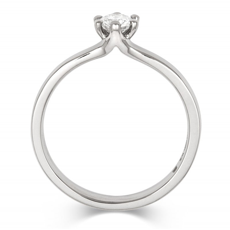 Classic Six Claw Ethical Diamond Solitaire - CRED Jewellery - Fairtrade Jewellery - 3