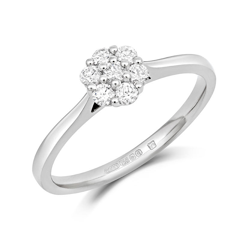 Alcea Ethical Engagement Ring - CRED Jewellery - Fairtrade Jewellery - 1