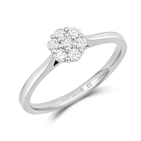 Alcea Ethical Diamond Cluster Engagement Ring