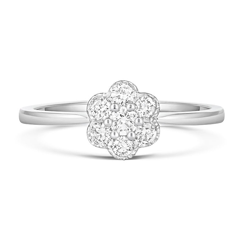 Fleur Cluster Ethical Engagement Ring - CRED Jewellery - Fairtrade Jewellery - 3