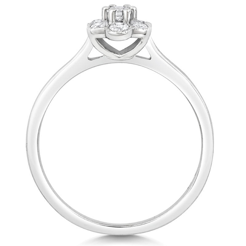Fleur Cluster Ethical Diamond Engagement Ring - CRED Jewellery - Fairtrade Jewellery - 5