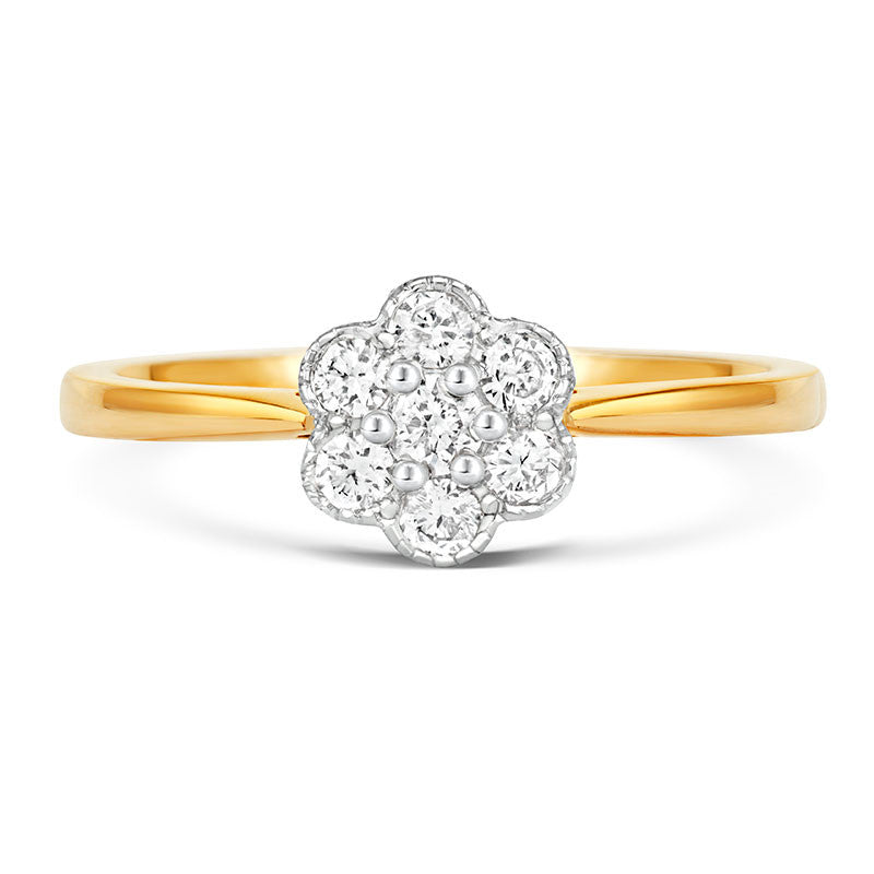 Fleur Cluster Ethical Diamond Engagement Ring - CRED Jewellery - Fairtrade Jewellery - 6
