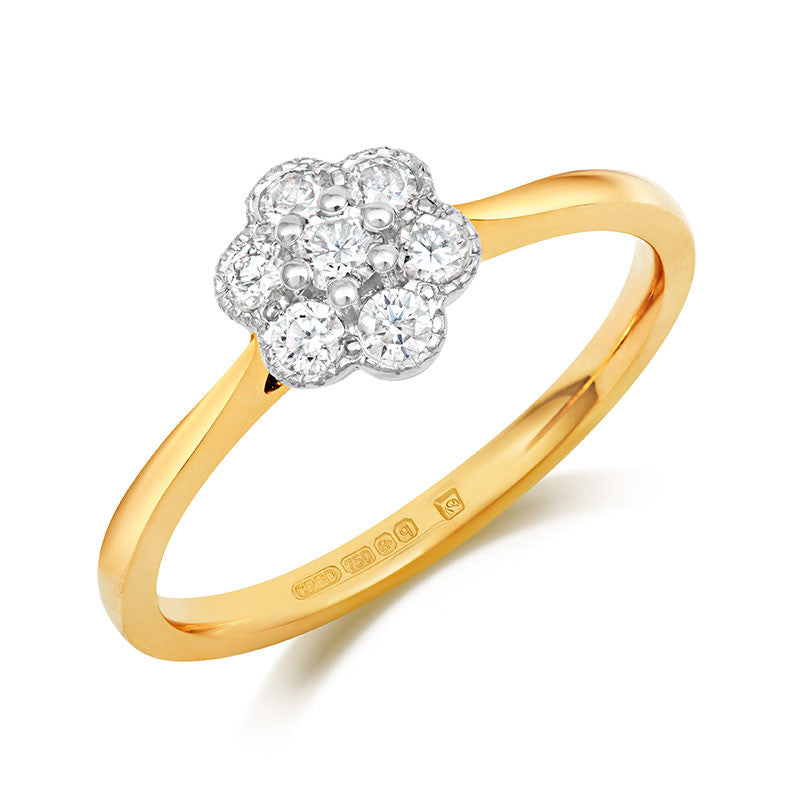Fleur Cluster Ethical Engagement Ring - CRED Jewellery - Fairtrade Jewellery - 2