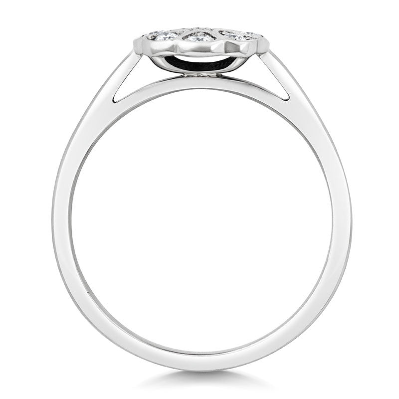 Jasmine Cluster Ethical Diamond Engagement Ring - CRED Jewellery - Fairtrade Jewellery - 4