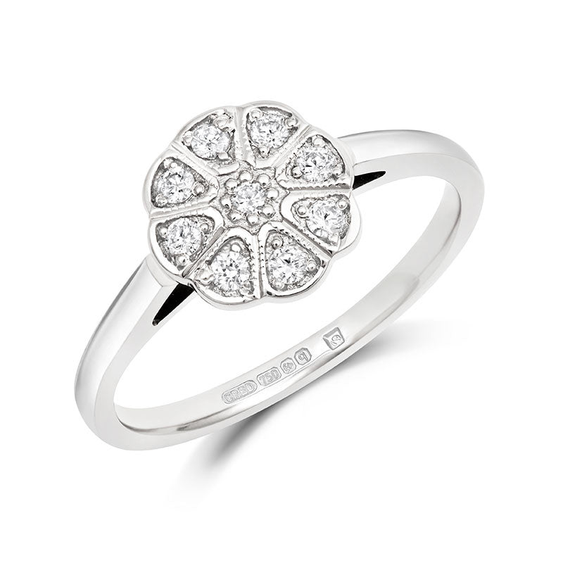 Jasmine Cluster Ethical Diamond Engagement Ring - CRED Jewellery - Fairtrade Jewellery - 1
