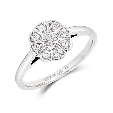 Jasmine Cluster Ethical Engagement Ring