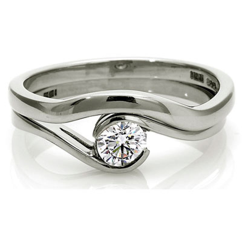 0.5ct Brilliant Cut Wrap Solitaire Ethical Diamond Engagement Ring - CRED Jewellery - Fairtrade Jewellery - 3