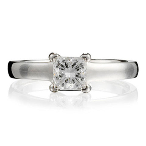 Princess Cut Ethical Diamond Gallery Engagement Ring