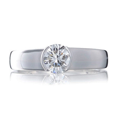 Brilliant Cradle Set Ethical Diamond Engagement Ring - CRED Jewellery - Fairtrade Jewellery - 1