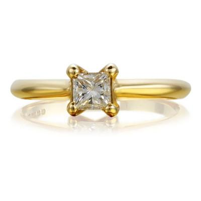 Princess Open-Set Ethical 0.3ct Diamond Engagement Ring