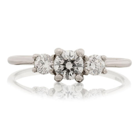 Open Trilogy Diamond Engagement Ring