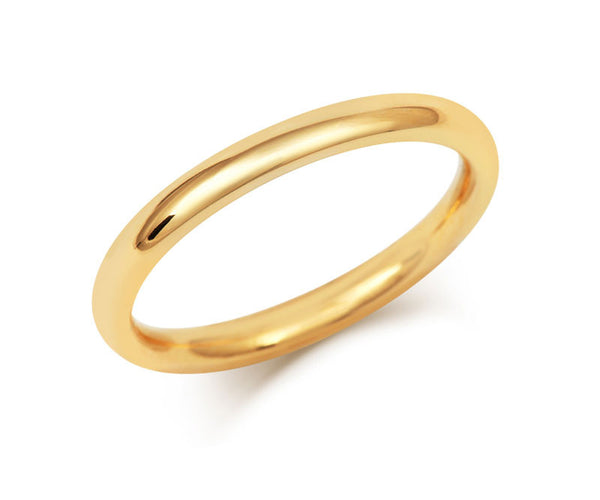 Signature Court Wedding Ring- Medium Weight- (18ct) Yellow Gold - CRED Jewellery - Fairtrade Jewellery - 2