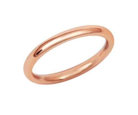 Ladies Lightweight Court Wedding Ring (18ct) - Rose Gold