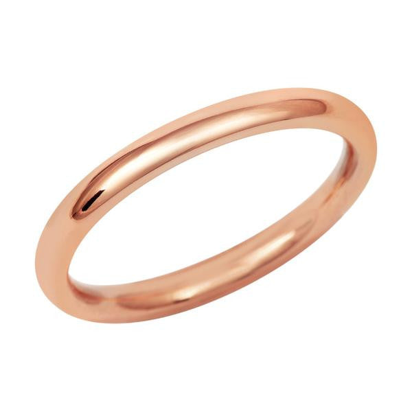 Simple Court Wedding Ring - Fine Weight (18ct)- Rose Gold - CRED Jewellery - Fairtrade Jewellery