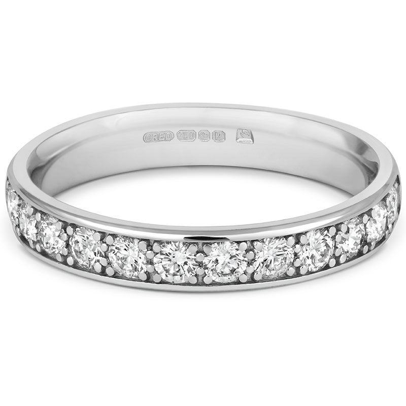 Wide Classic Pave Eternity - CRED Jewellery - Fairtrade Jewellery - 2