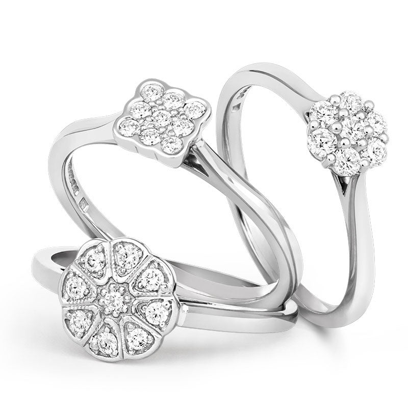 Jasmine Cluster Ethical Diamond Engagement Ring - CRED Jewellery - Fairtrade Jewellery - 6