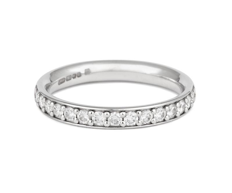 Classic Pave Set Diamond Eternity/Wedding Ring - CRED Jewellery - Fairtrade Jewellery - 2