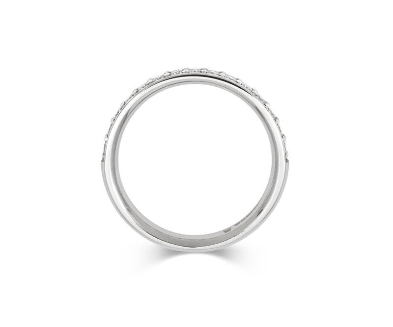 Classic Pave Set Diamond Eternity/Wedding Ring - CRED Jewellery - Fairtrade Jewellery - 3