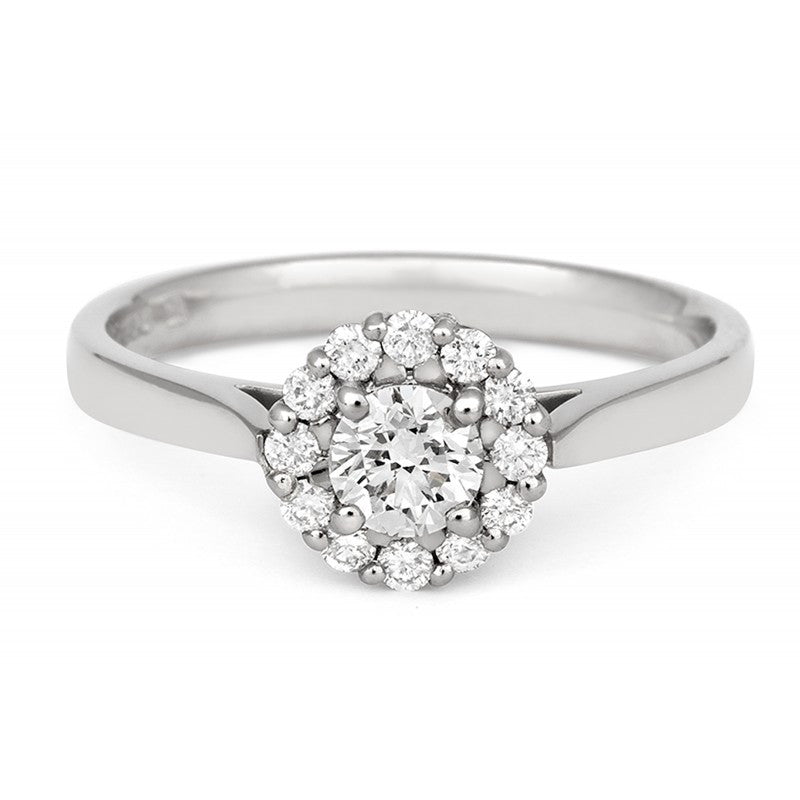 Halo Style Ethical Diamond Cluster Engagement/Dress Ring - CRED Jewellery - Fairtrade Jewellery - 2