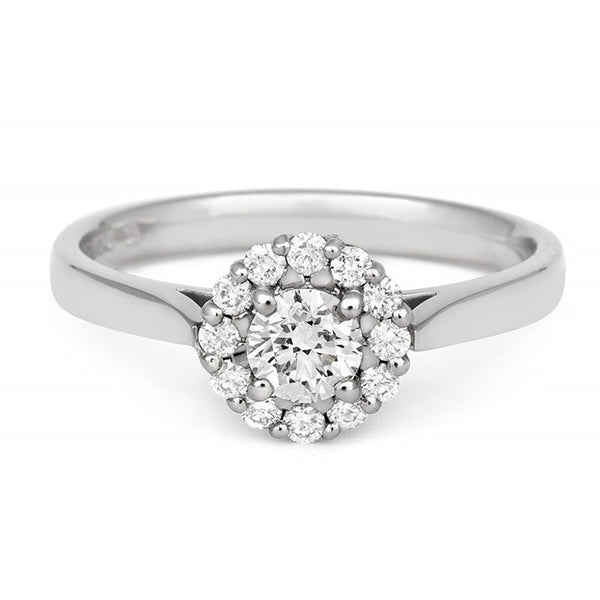 Halo Style Diamond Cluster Ethical Ring - CRED Jewellery - Fairtrade Jewellery - 2