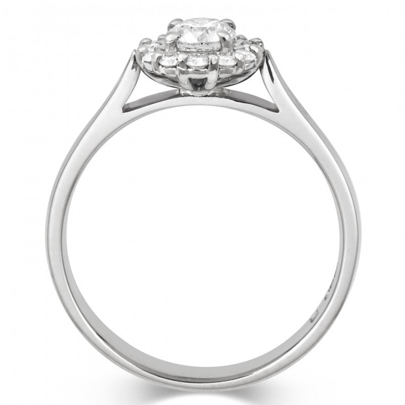 Halo Style Ethical Diamond Cluster Engagement/Dress Ring - CRED Jewellery - Fairtrade Jewellery - 3