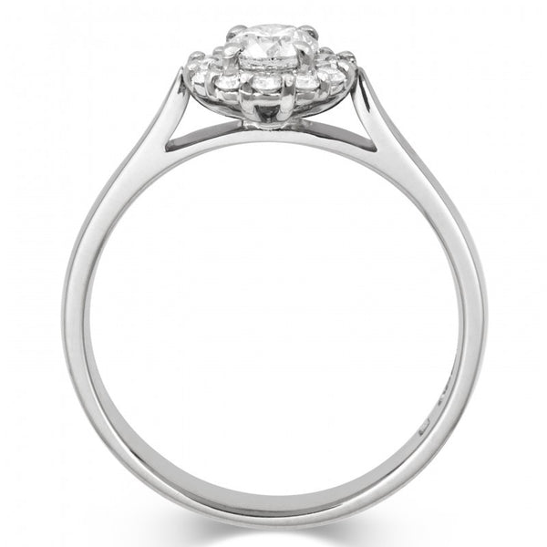 Halo Style Diamond Cluster Ethical Ring - CRED Jewellery - Fairtrade Jewellery - 3