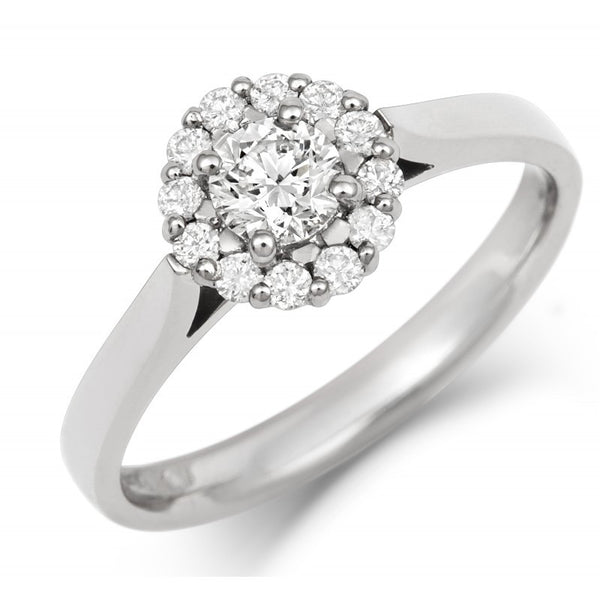 Halo Style Diamond Cluster Ring - CRED Jewellery - Fairtrade Jewellery - 1
